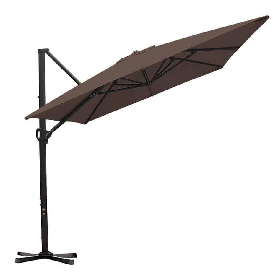 Abba Patio Rectangular Offset Cantilever Outdoor Patio Hanging Umbrella review