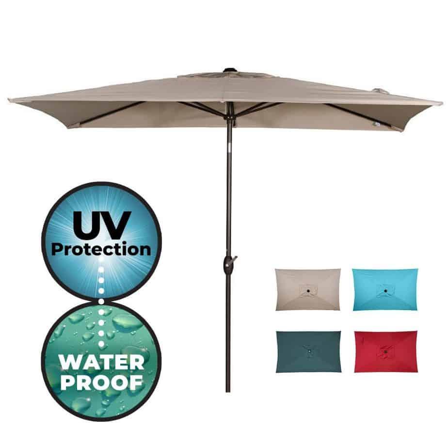 Abba Patio Rectangular best square patio umbrella review