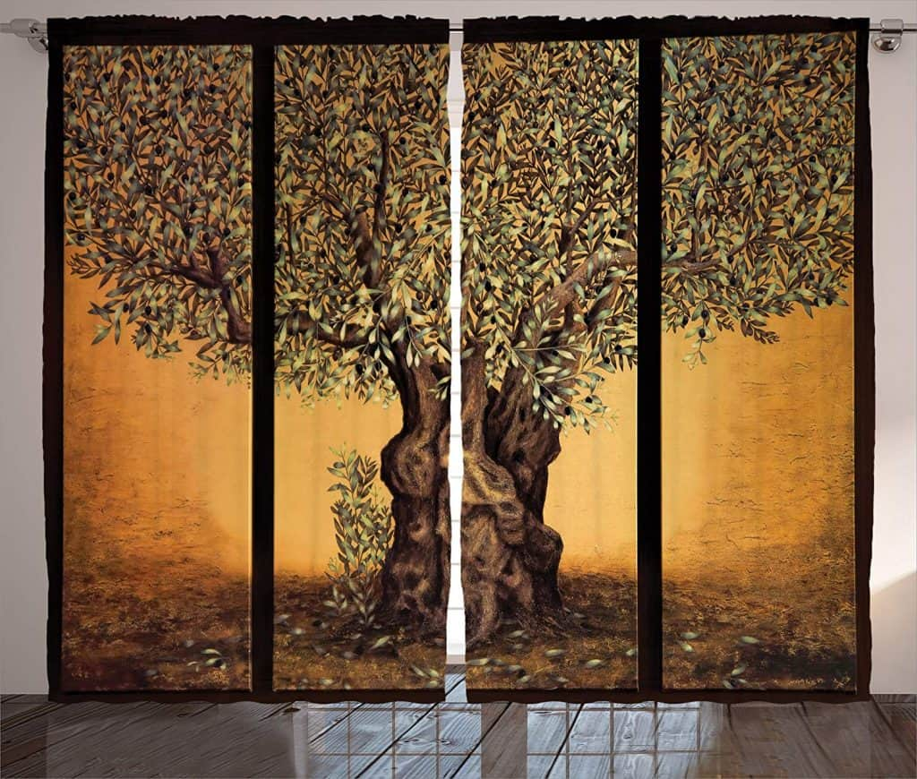 Ambesonne Modern Curtains Tree of Life Decor graphic nature best patio door