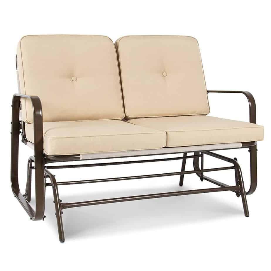 Best Choice Products 2 Person Loveseat Glider Rocking Chair Bench Patio Deck Furniture best patio glider