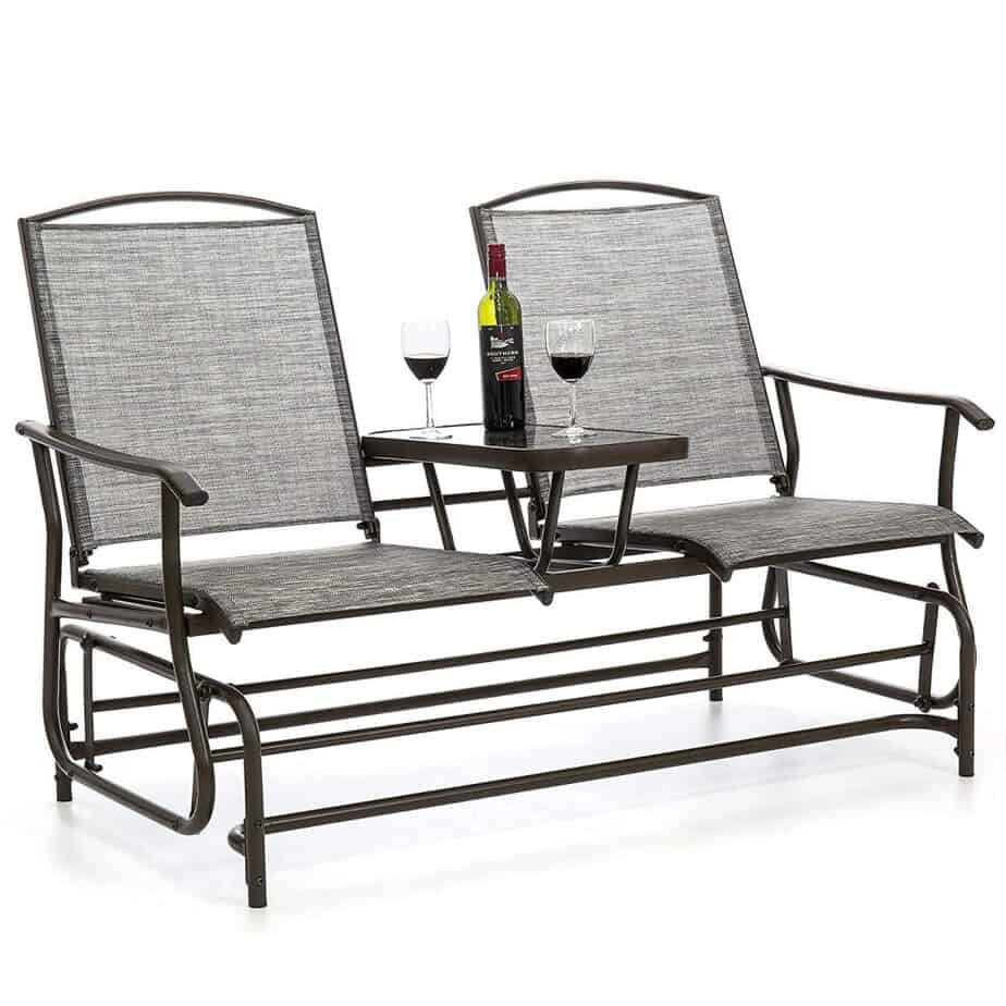 Best Choice Products 2-Person Outdoor Mesh Fabric Patio Double Glider best patio gliders