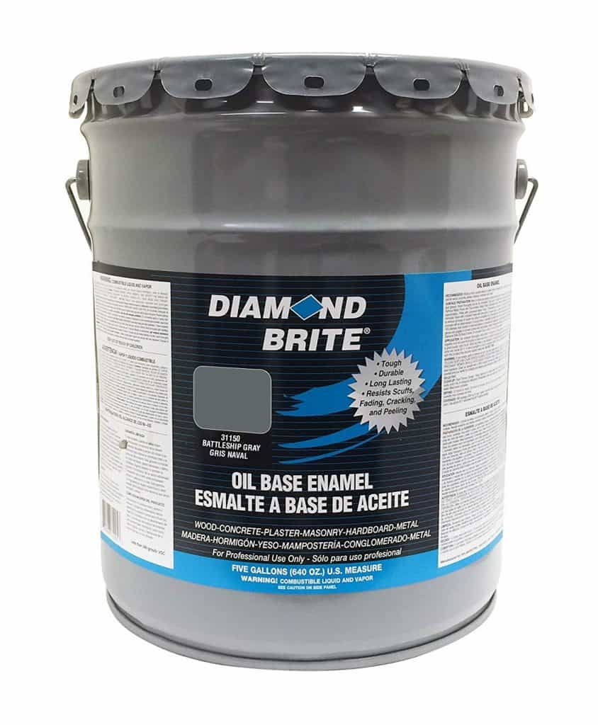 Diamond Brite Paint 31150 5-Gallon Oil Base All Purpose Enamel Paint Battleship Grey best patio paint garage review