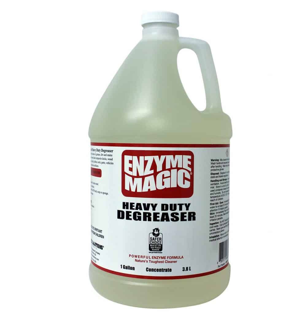 ENZYME MAGIC Heavy Duty Degreaser; Industrial Strength to Clean Grease,Oil&Stains of Concrete best industrial patio cleaner
