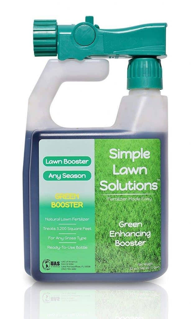 Intense Green Grass Enhancing Booster- Natural Spray Concentrated Liquid Fertilizer Micronutrient best lawn booster