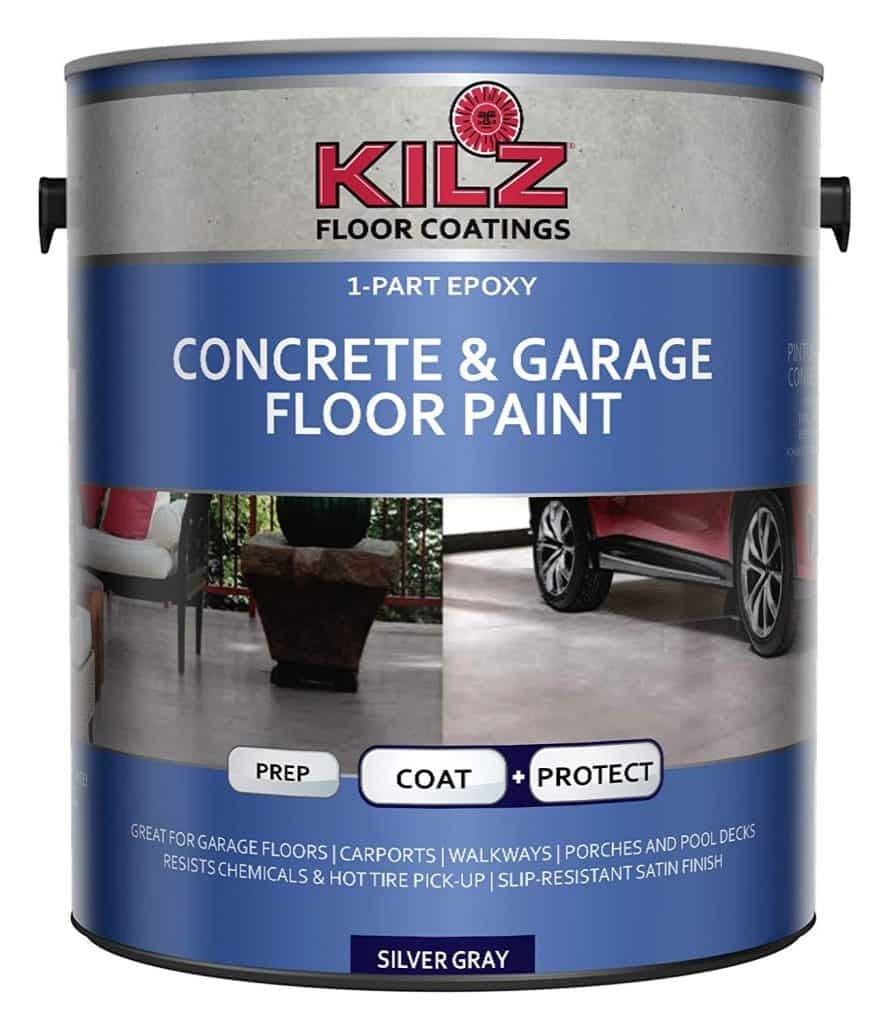 KILZ L377611 1-Part Epoxy Acrylic Interior/Exterior Concrete and Garage Floor Paint best patio paint garage review