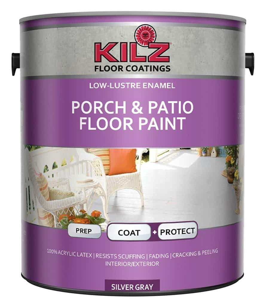 KILZ L573611 Interior/Exterior Enamel Porch and Patio Latex Floor Paint best patio paint garage review