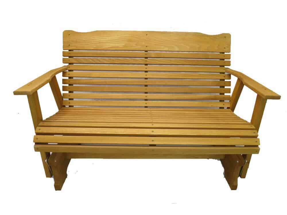 Kilmer Creek 4' Cedar Porch Glider W:stained Finish, Amish Crafted best patio gliders