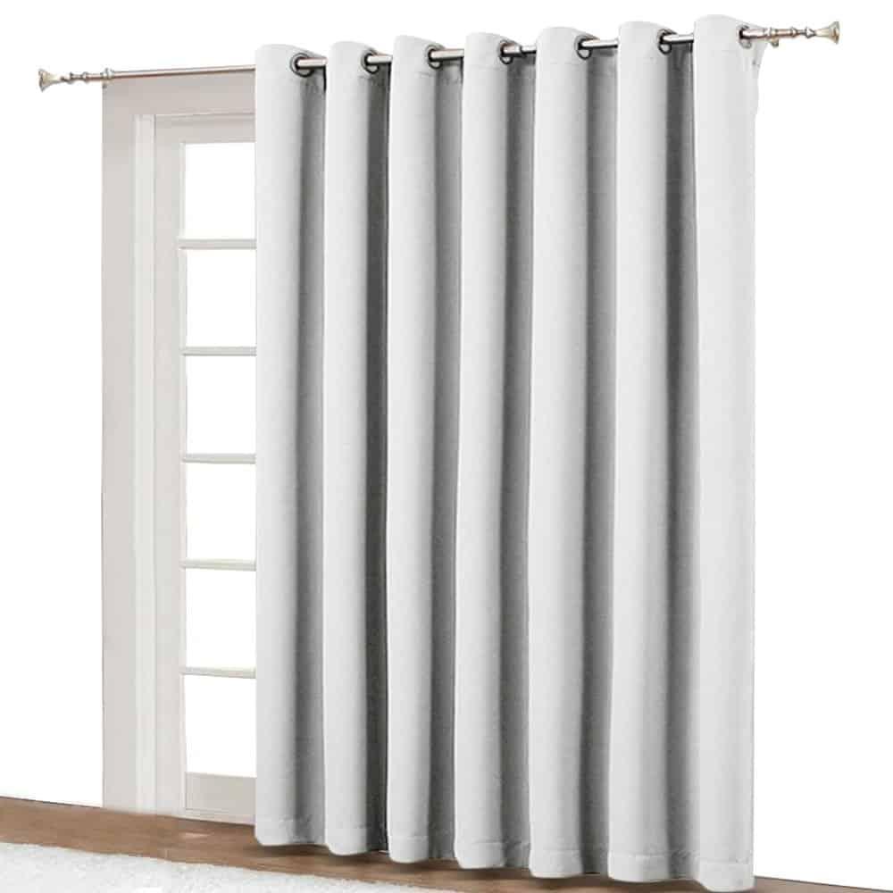 NICETOWN Vertical Blinds for Sling Door - Silver Grommet Top Blackout Window Curtains best patio door blind