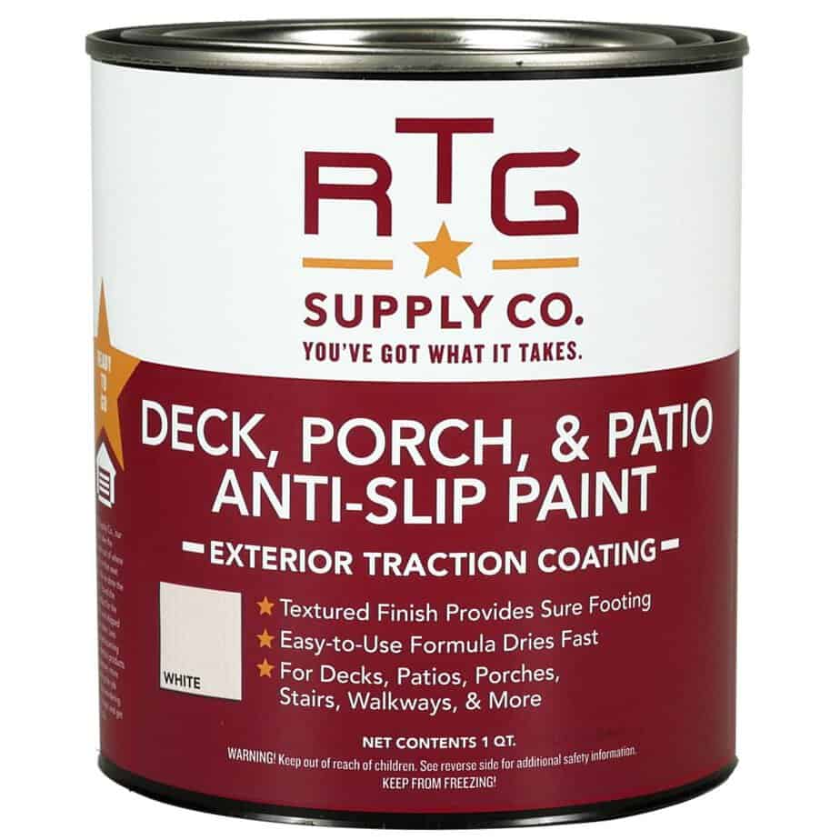 RTG Deck, Porch, Patio Anti-Slip Paint (Quart, White) best patio paint concrete review