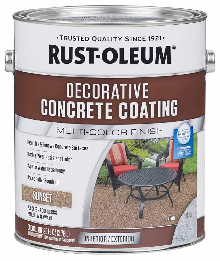 Rust-Oleum 301303 Decorative Concrete Coating, Sunset best patio paint garage review