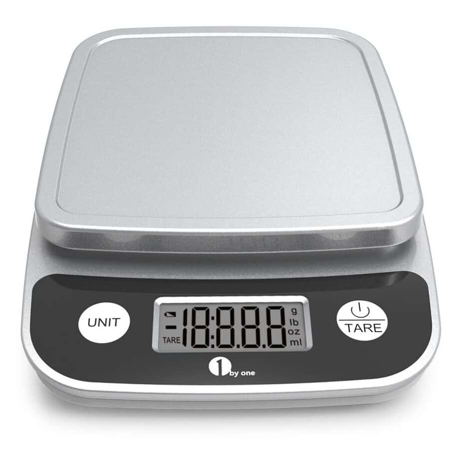 1byone Digital Kitchen Scale Precise Cooking Scale and Baking Scale, Multifunction with Range From 0.04oz to 11lbs best kitchen scale for soap making
