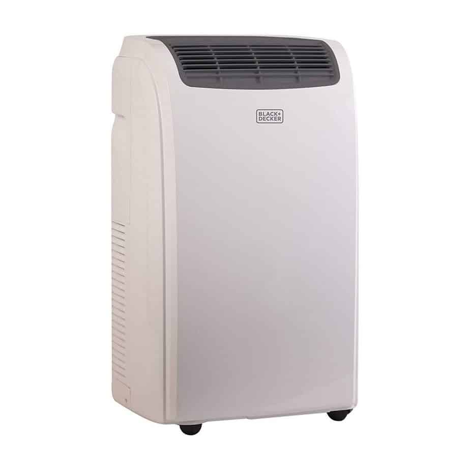BLACK+DECKER 10000 BTU Portable Air Conditioner Unit, Remote, LED Display, Window Vent Kit, 4 Caster Wheels best portable air conditioner for allergies