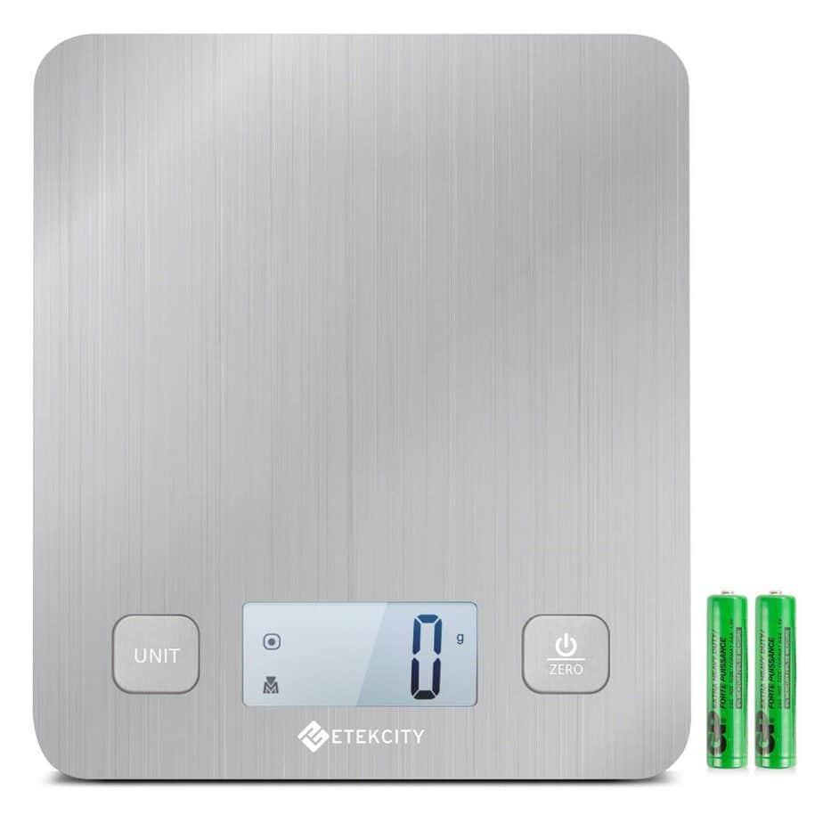Etekcity EK6212 Kitchen Food Digital Cooking Multifunction Weight Scale, Large Platform 11lb 5kg best kitchen scale for soap making review