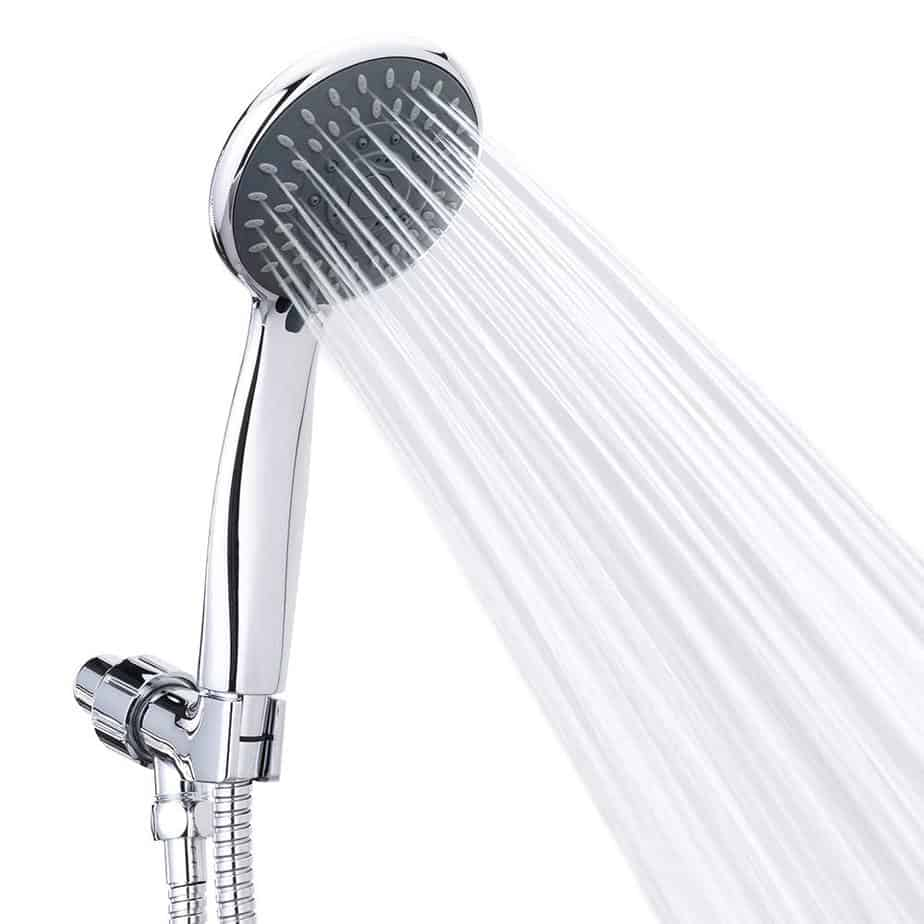 Handheld Shower Head High Pressure 5 Spray Settings Massage Spa Detachable Hand Held Showerhead Chrome Face with Hose and Adjustable Bracket best shower heads for outdoor showers