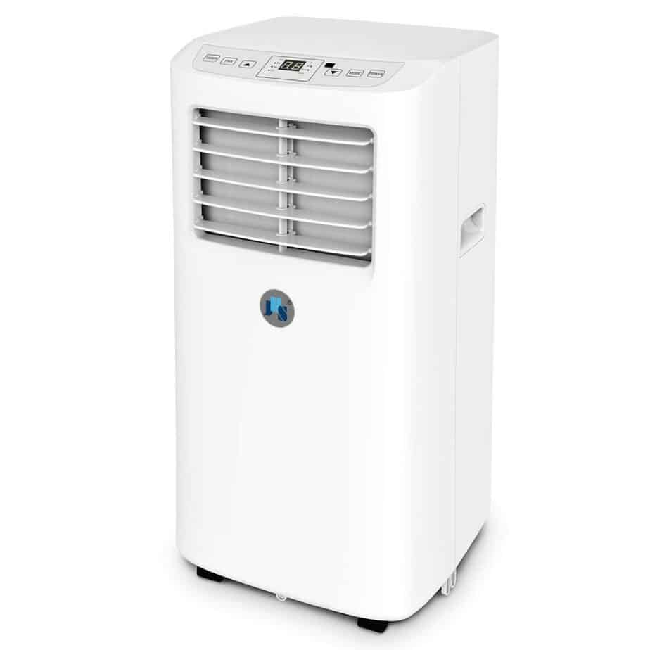 JHS 8,000 BTU Small Portable Air Conditioner, 3-in-1 Floor AC Unit with 2 Fan Speeds best portable air conditioner for allergies