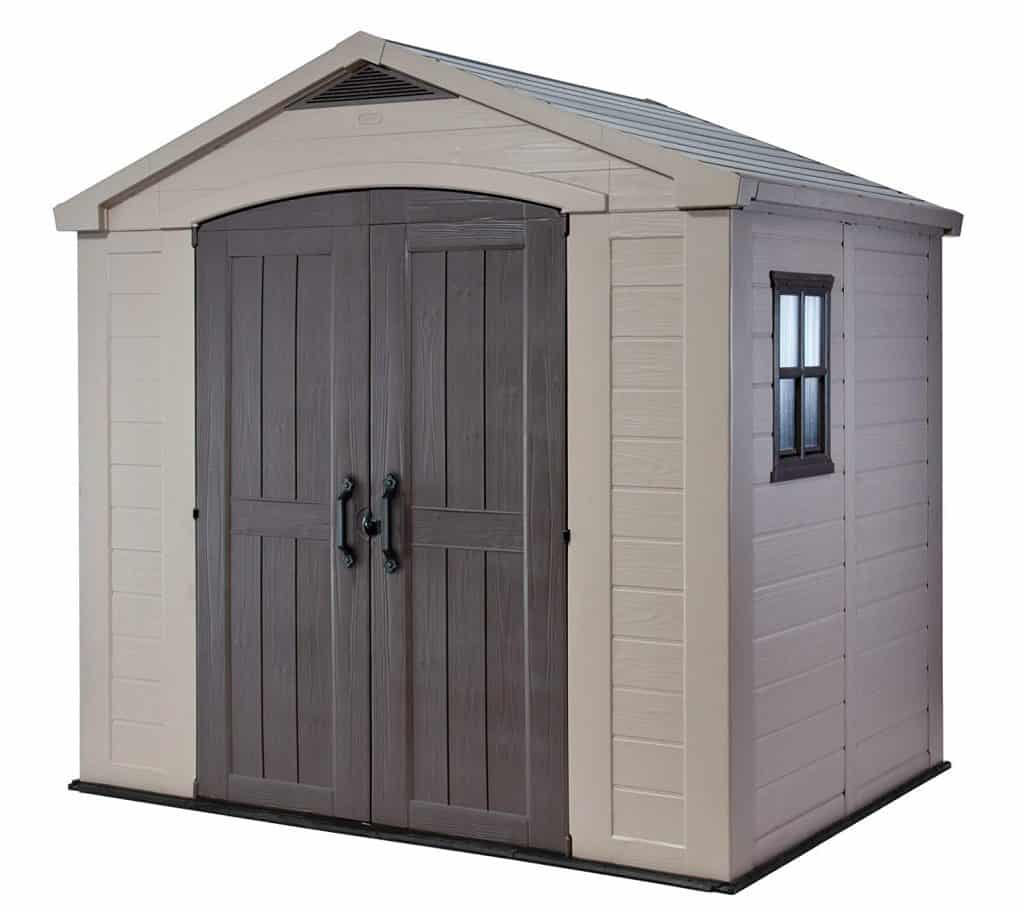Keter Factor Large 8 x 6 ft. Resin Outdoor Backyard Garden Storage Shed best storage sheds for backyard