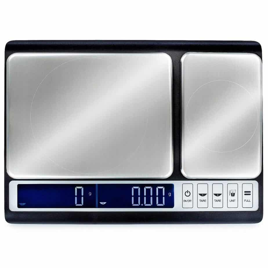Smart Weigh Culinary Kitchen Scale 10kg x 0.01g, Digital Food Scale with Dual Weight Platforms for Baking, Cooking, Food, and Ingredients best kitchen scale for soap making