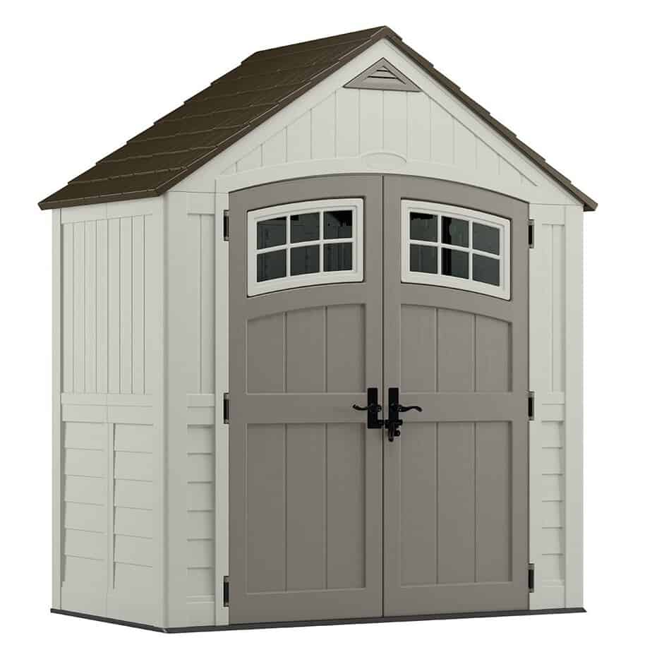 best storage sheds for backyard review Suncast 7' x 4' Cascade Storage Shed - Outdoor Storage for Backyard Tools and Accessories