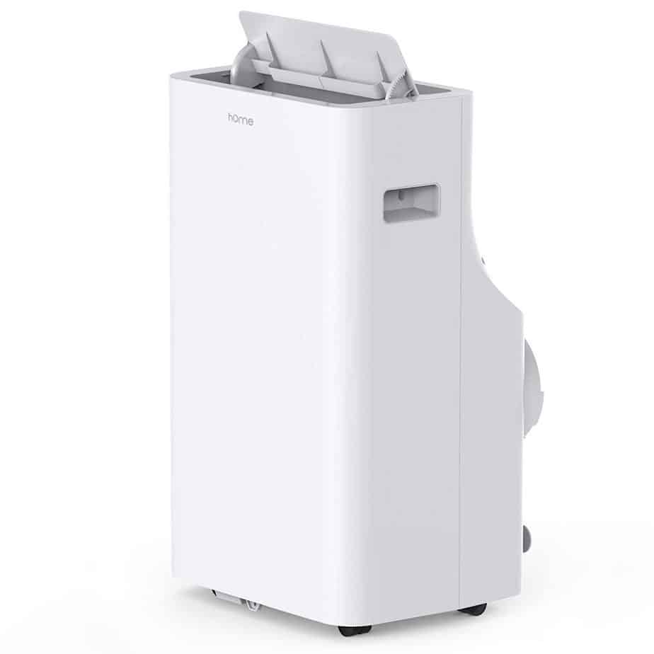hOmeLabs 14,000 BTU Portable Air Conditioner - Quiet AC Cools Rooms 550 to 700 Sq. Ft. - Includes Remote Control and 100 Pint Dehumidifier Function best portable air conditioner for allergies