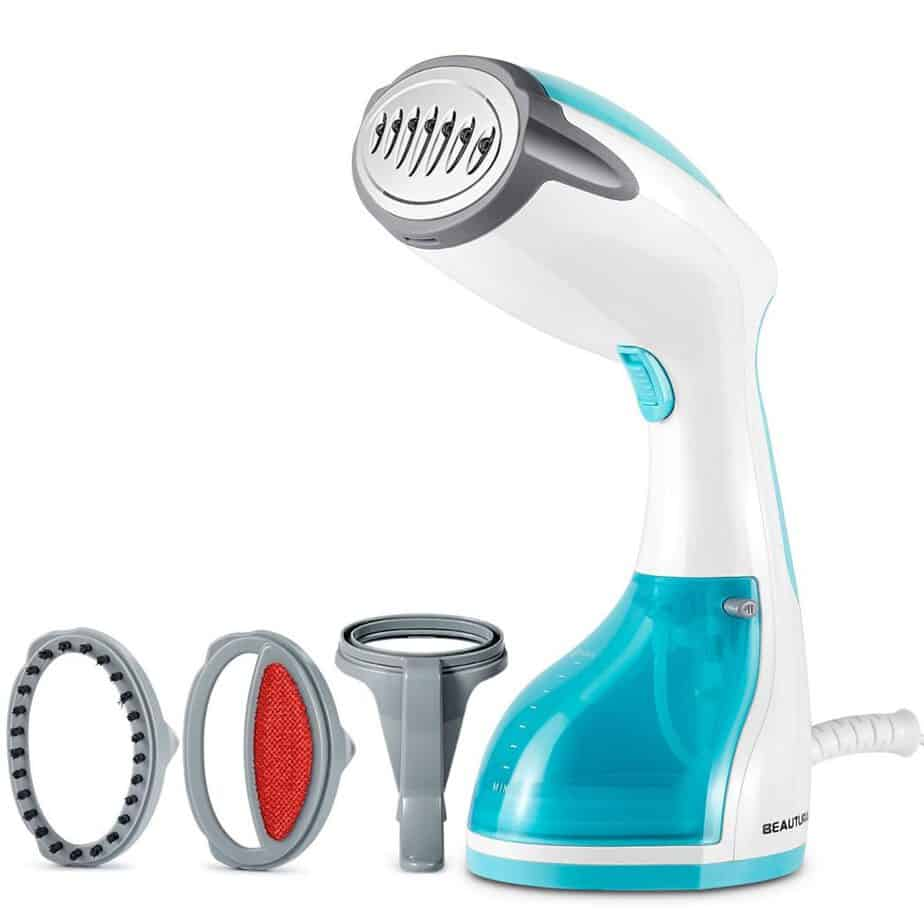 BEAUTURAL 1200-Watt Handheld Steamer for Clothes, Garment Fabric Wrinkles Remover, 30s Fast Heat-up best clothes steamer for college