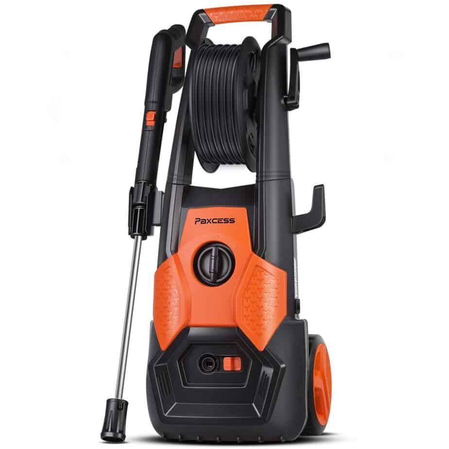 PAXCESS Electric Pressure Washer, 2150 PSI 1.85 GPM Electric Power Washer with Spray Gun, Adjustable Nozzle,26ft High Pressure Hose, Hose Reel best pressure washer for 2 story house