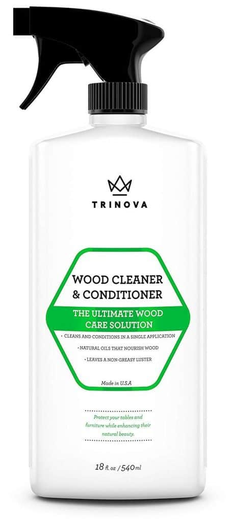 Wood Cleaner, Conditioner, Wax & Polish - Spray for Furniture & Cabinets - Removes Stains & Restores Shine - Wax & Oil Polisher - Works on Stained & Unfinished Surfaces best product to clean kitchen cabinets