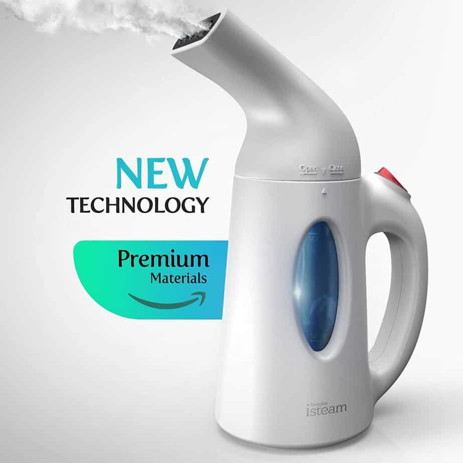 iSteam Steamer for Clothes Powerful Handheld Portable Steam Iron. 7 Tasks-in-1 Garment Ironing. Steam Cleaner. Sanitize best clothes steamer for college reviews