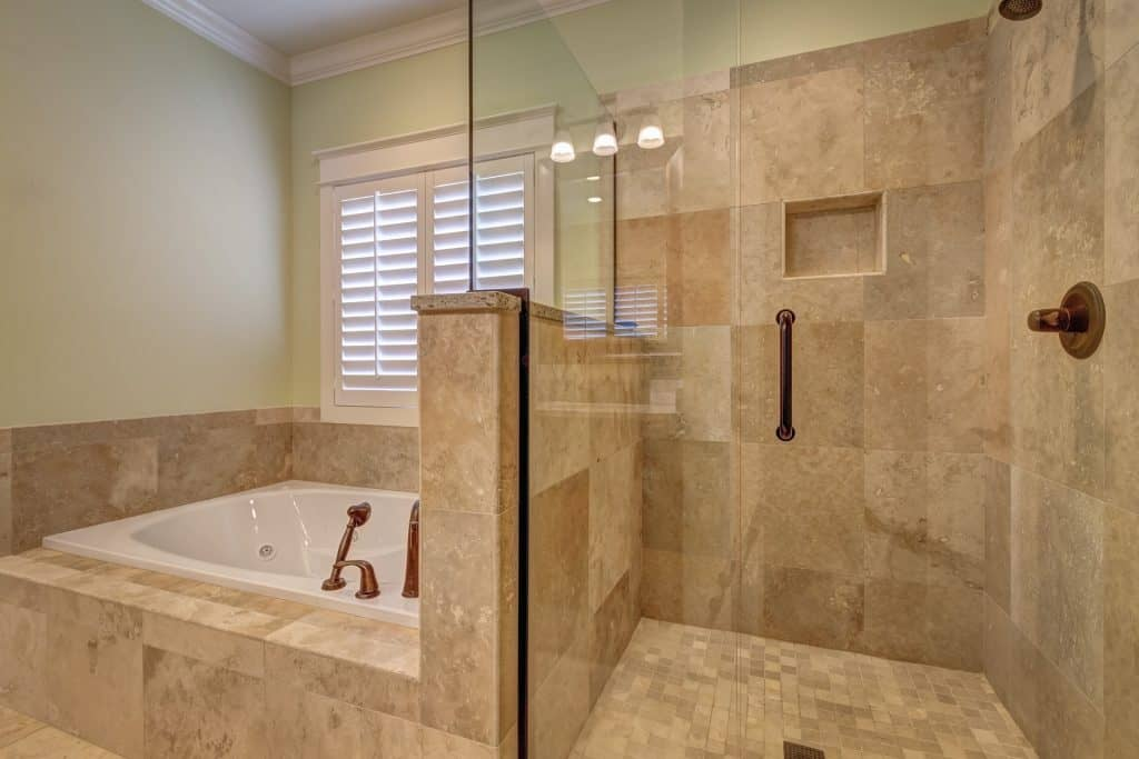stonetiles shower what bathroom tile is easiest to clean