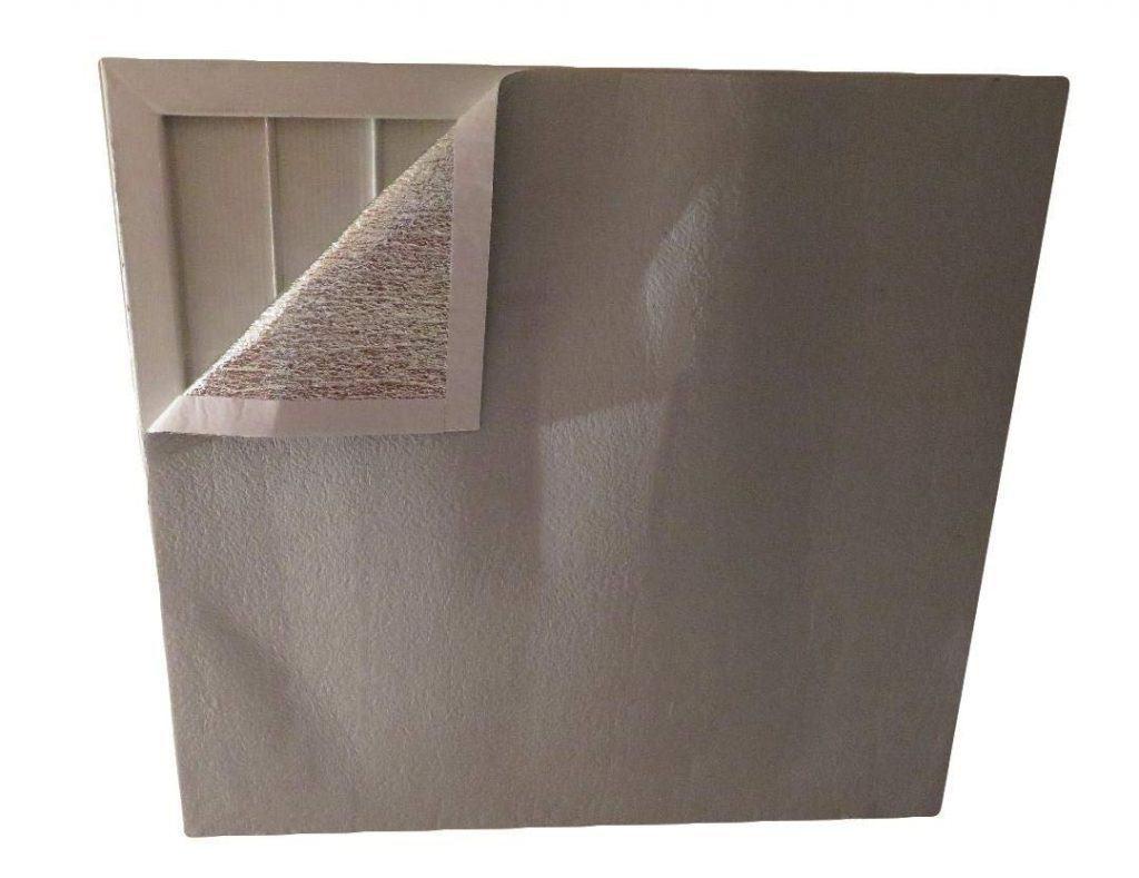 AES Industries House Attic Ceiling Fan Shutter Cover Reflective Foam Core 48 x 48 TRIM TO FIT best attic fan cover