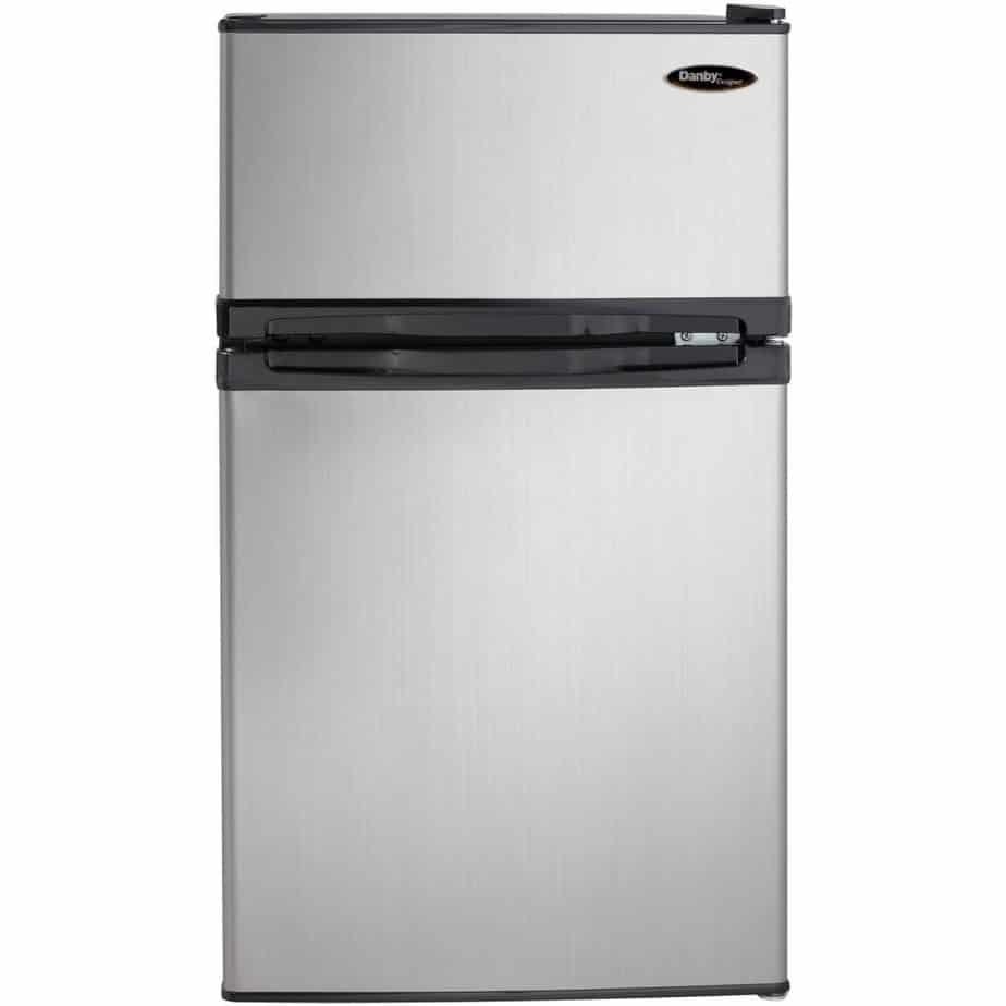Danby DCR031B1BSLDD 3.1 cu. ft. 2 Door Compact Refrigerator, Steel best refrigerator for smallkitchen review