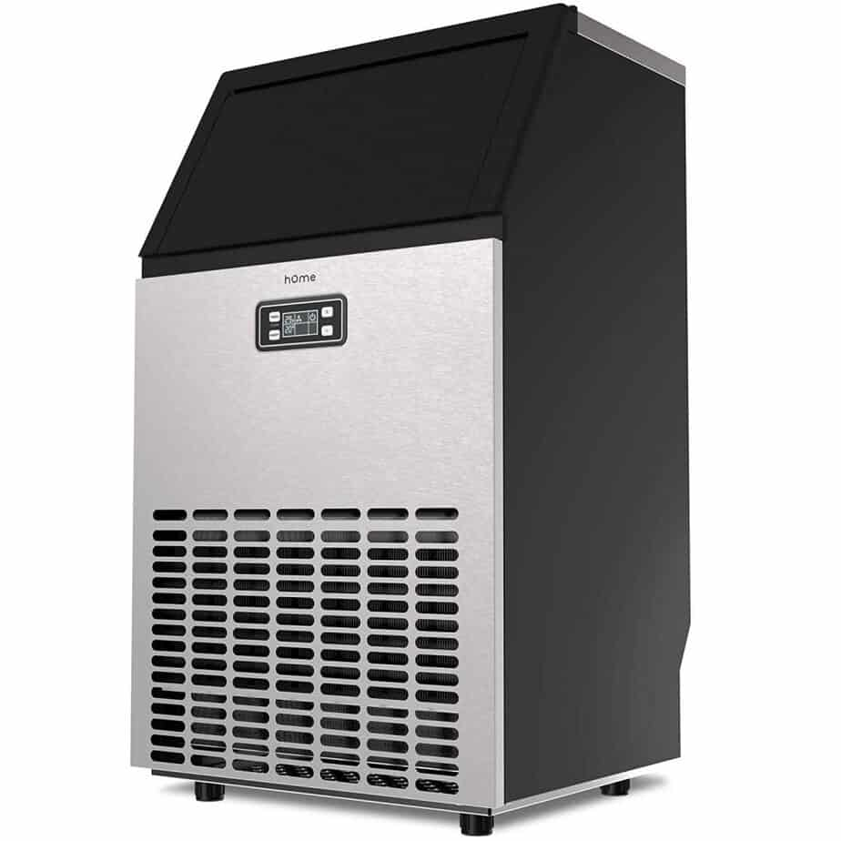 hOmeLabs Freestanding Commercial Ice Maker Machine - Makes 99 Pounds Ice in 24 hrs with 29 Pounds Storage Capacity - Ideal for Restaurants, Bars, Homes and Offices best ice maker for home bar