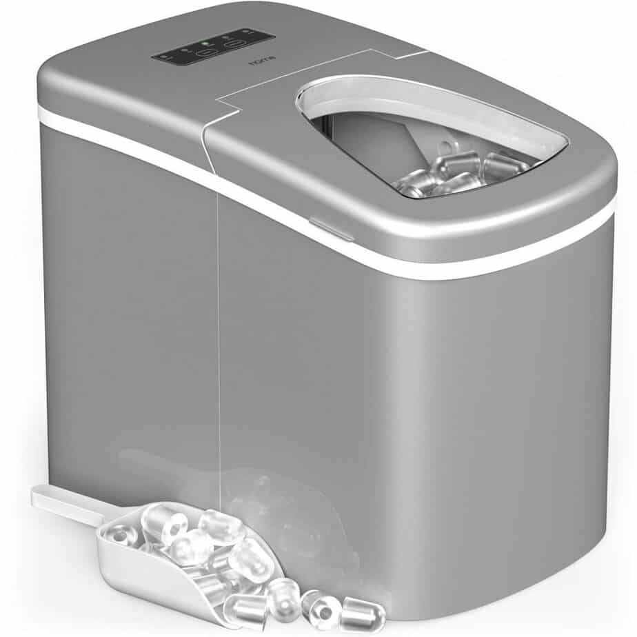 hOmeLabs Portable Ice Maker Machine for Countertop Electric Ice Making Machine Ice Scoop 1.5 lb Ice Storage best ice maker for home bar review