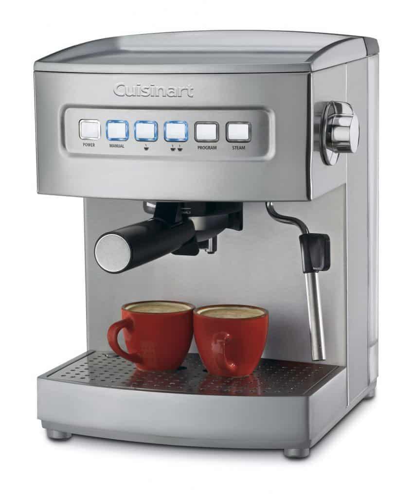 Cuisinart EM-200 Programmable 15-Bar Espresso Maker, Stainless Steel review best home espresso machine for latte art