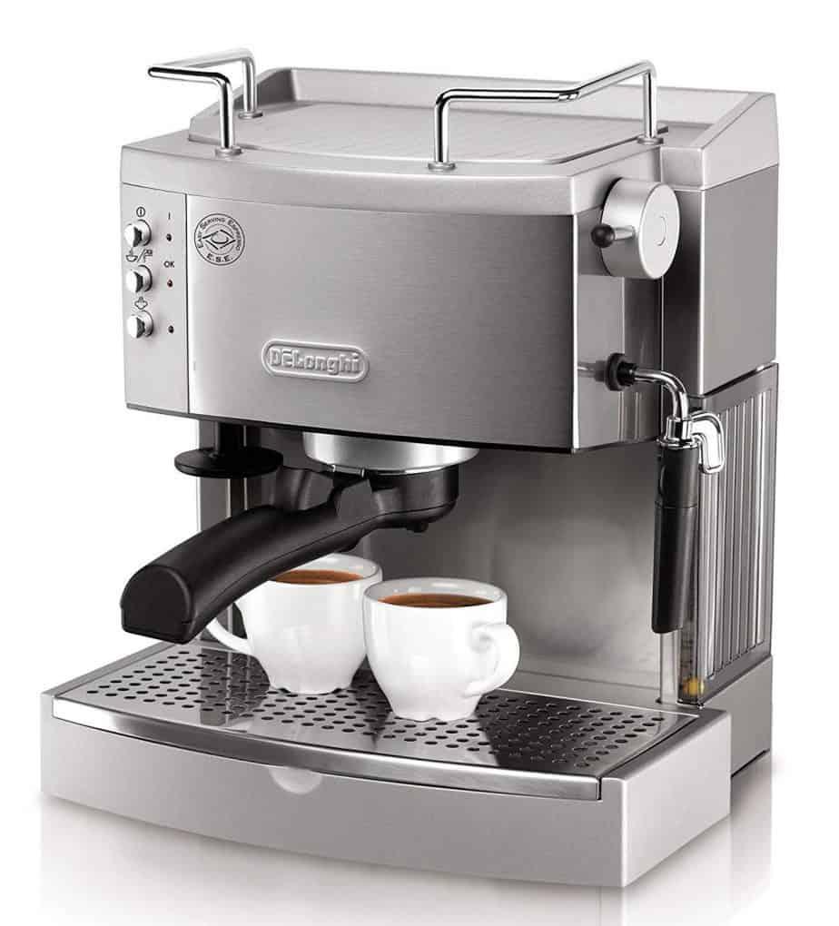 DeLonghi EC702 15-Bar-Pump Espresso Maker, Stainless best home espresso machine for latte art