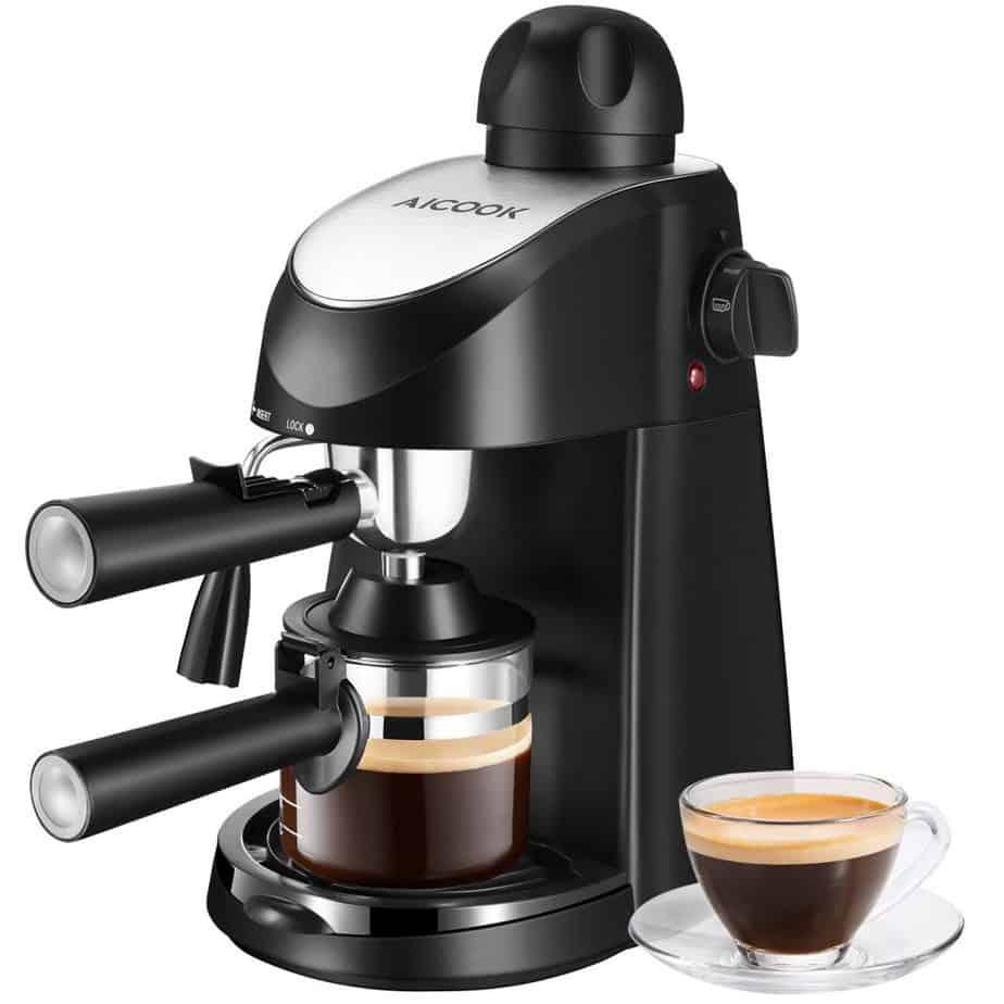 Espresso Machine, Aicook 3.5Bar Espresso Coffee Maker, Espresso and Cappuccino Machine with Milk Frother best home espresso machine for latte art