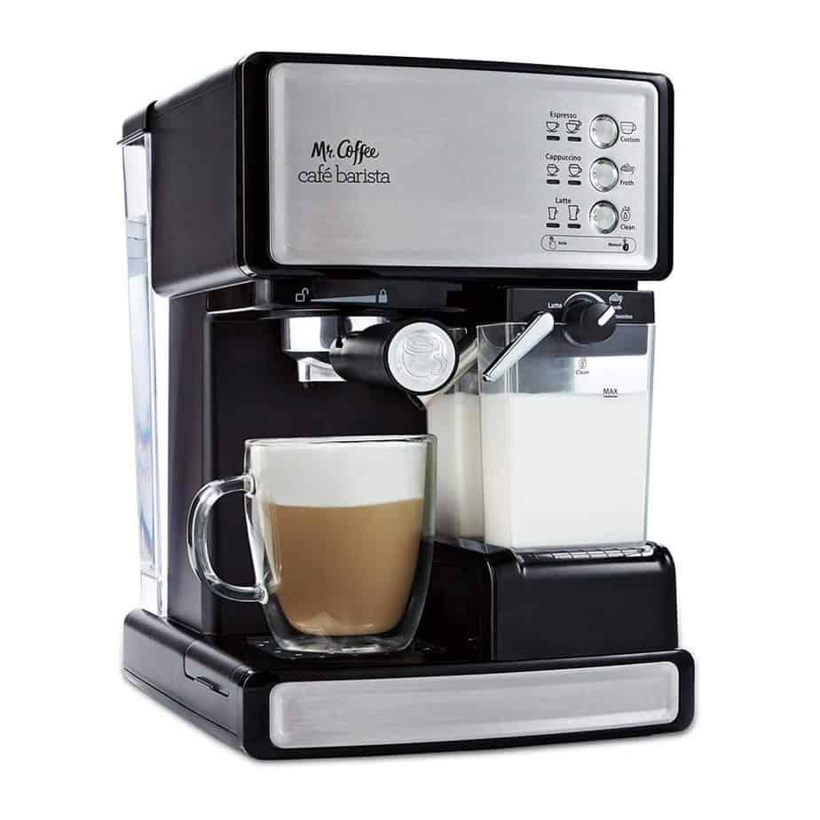 Mr. Coffee Espresso and Cappuccino Maker Café Barista best home espresso machine for latte art