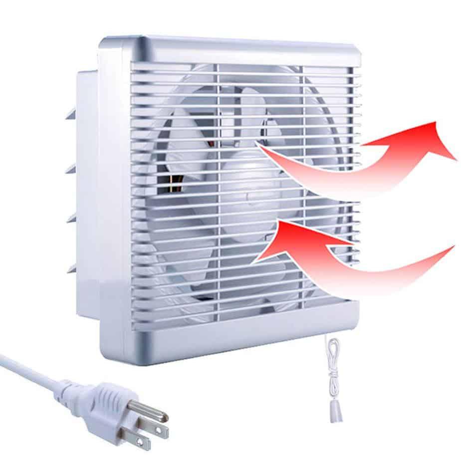 SAILFLO Exhaust Shutter Fan 8 Inch 300 CFM, 2 Direction Reversible Strong Airflow Ventilation Blower for basement review