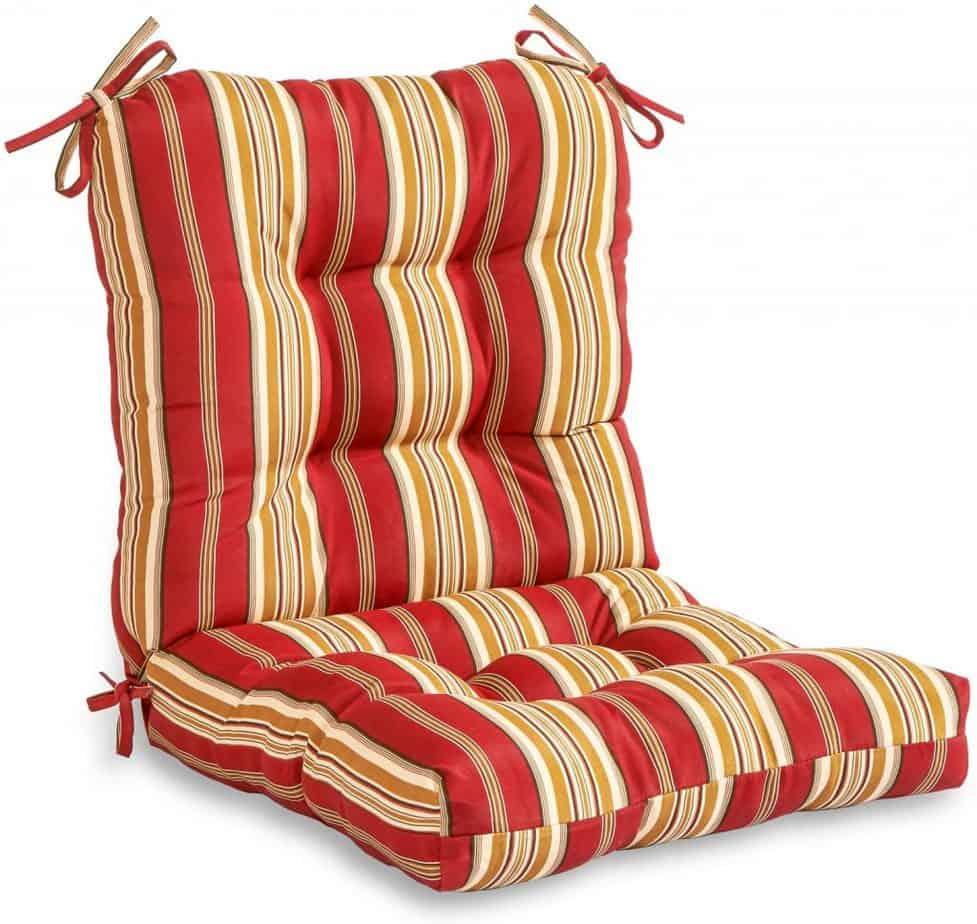Greendale Home Fashions Outdoor Seat Back Chair Cushion, Roma Stripe best patio cushion