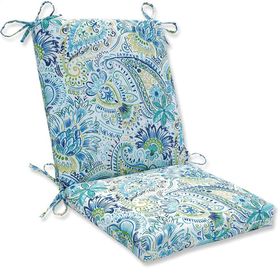 Pillow Perfect Outdoor Indoor Gilford Baltic Square Corner Chair Cushion, 36.5 x 18 best patio cushions