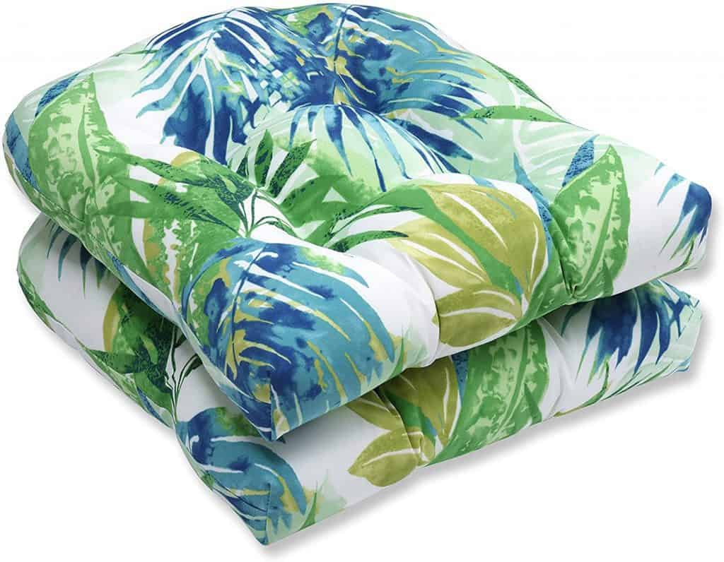Pillow Perfect Outdoor Indoor Soleil Tufted Seat Cushions (Round Back), 19 x 19 best patio cushions