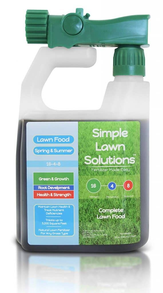 Advanced 16-4-8 Balanced NPK - Lawn Food Natural Liquid Fertilizer - Spring & Summer Concentrated Spray grass best lawn booster