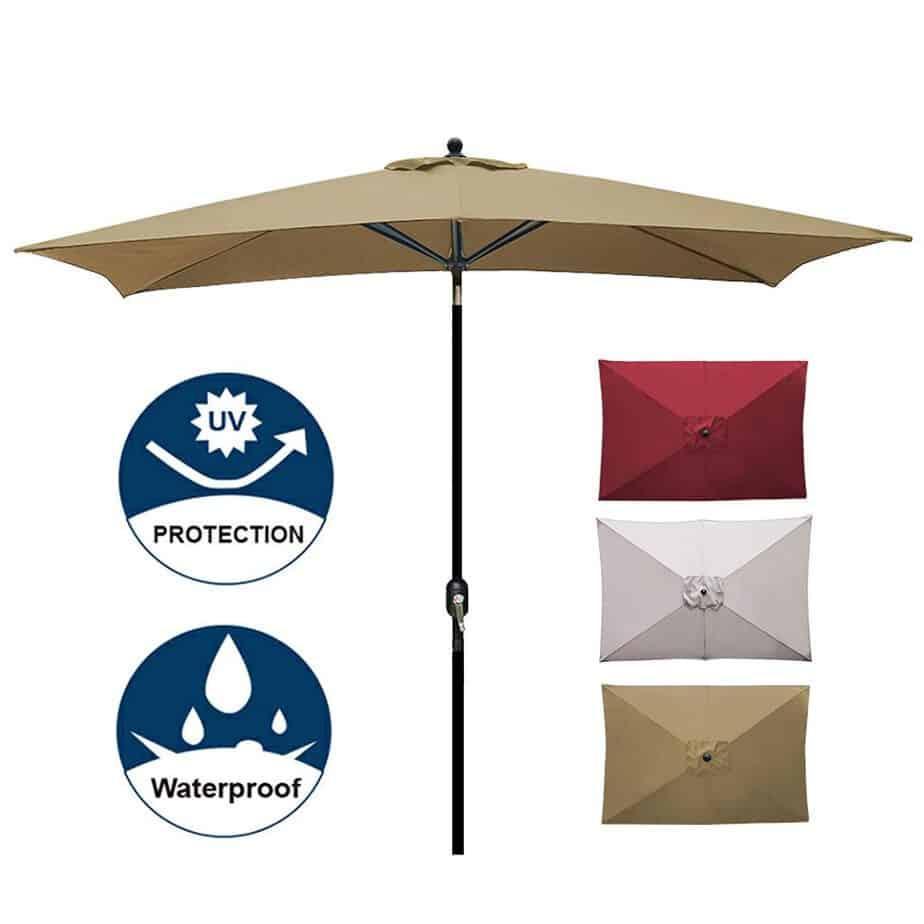 Blissun Rectangular Patio Umbrella best square patio umbrella review