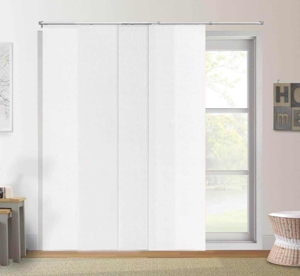 Chicology Adjustable Sliding Panels Cut to Length Vertical patio Blinds, Up to Up to 80W X 96H review