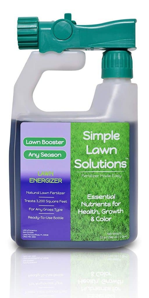 Commercial Grade Lawn Energizer- Grass Micronutrient Booster w/ Nitrogen- Natural Liquid Turf Spray Concentrated Fertilizer best lawn booster