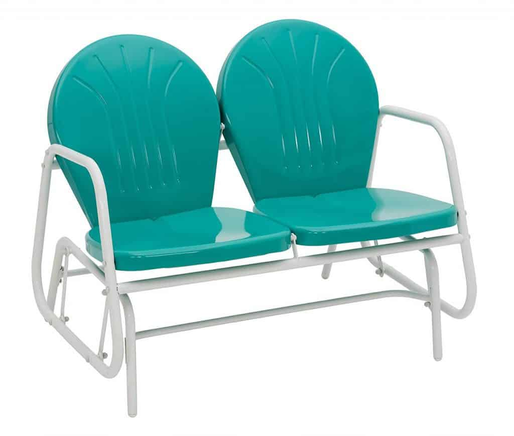 Jack Post BH-10EM Porch Glider,Turquoise best patio gliders reviews