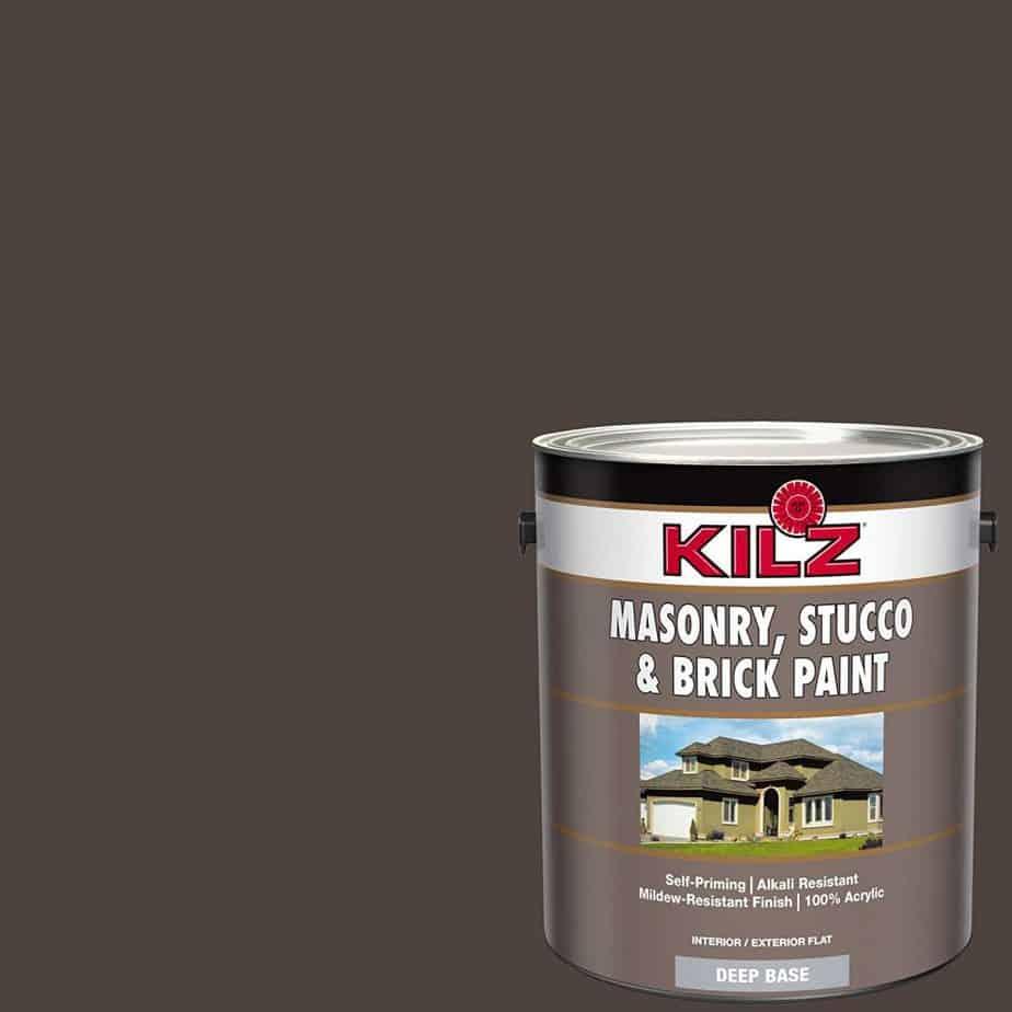 KILZ 13511101 L341011 Interior/Exterior Self-Priming Masonry brick best patio paint garage review