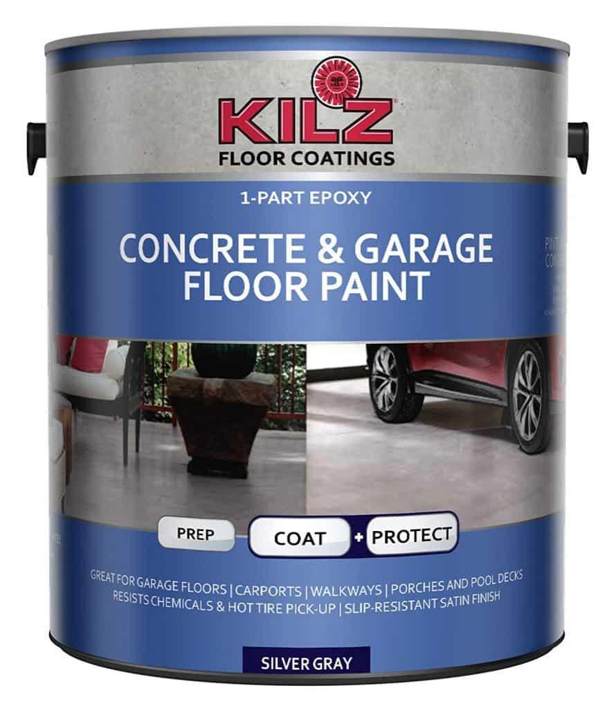 KILZ L377611 1-Part Epoxy Acrylic Interior/Exterior Concrete and Garage Floor Paint best patio paint garage review