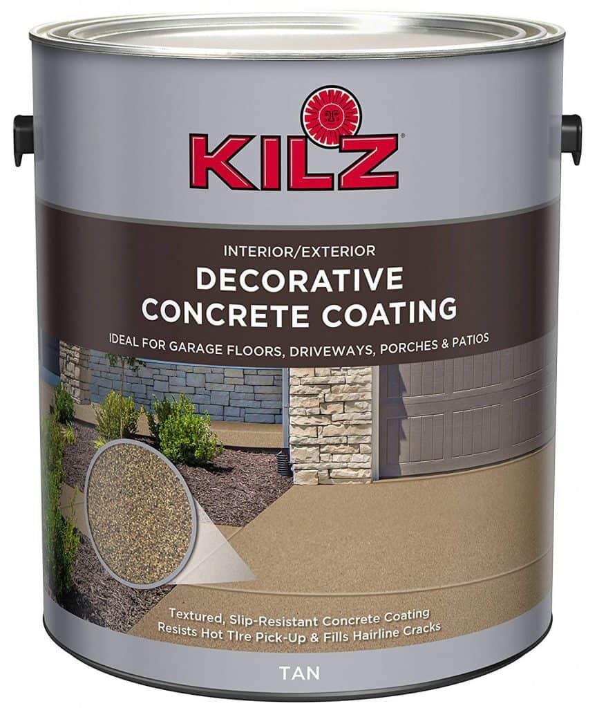 KILZ L378601 Interior/Exterior Slip-Resistant Decorative Concrete Paint best patio paint garage reviews