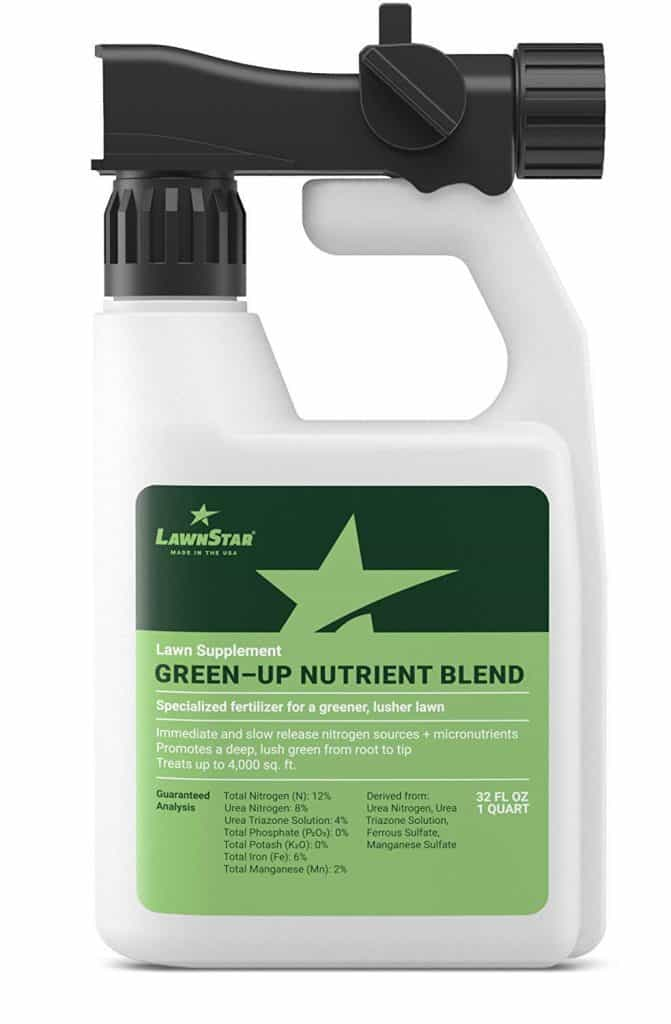 LawnStar Green-Up Lawn Supplement + Booster (32 OZ) w/Slow Release Nitrogen + Micronutrients best lawn booster