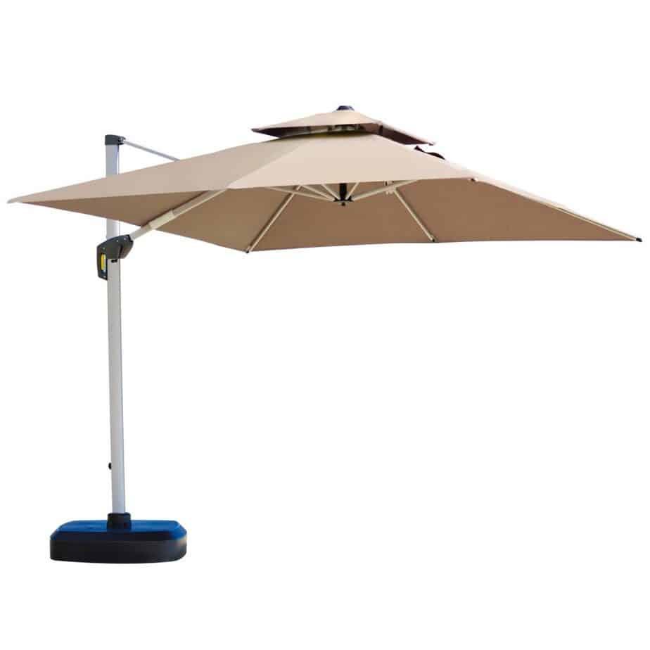 PURPLE LEAF 11 Feet Double Top Deluxe Square Patio Umbrella Offset Hanging best square patio umbrella